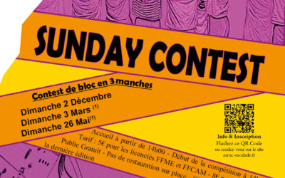 Sunday Contest – Contest de bloc en 3 manches – Promo 2018-2019