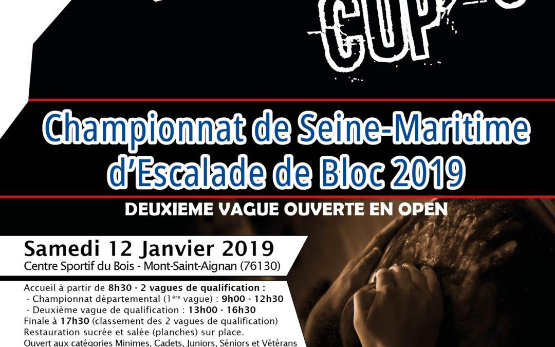 Boulder Cup #6 & Championnats départemantaux (76) de Bloc – 12 janvier 2019