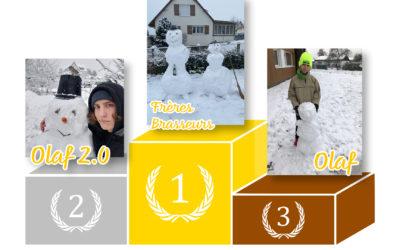 Résultats : Concours de bonhomme de neige